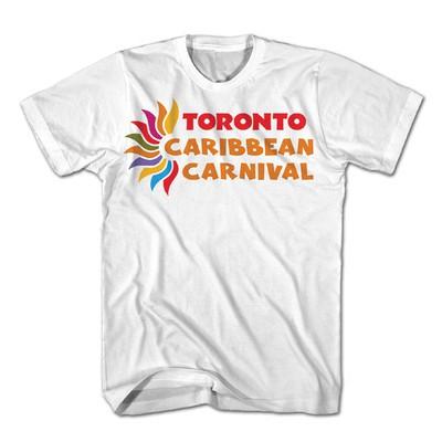 Toronto Caribbean Carnival Adult T-Shirt, White, Horizontal Logo - (S, M, L, XL, XXL)