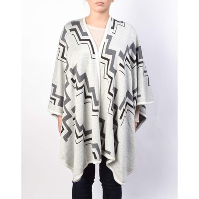 Grandcraft ZIG ZAG DOUBLE FACED OPEN PONCHO