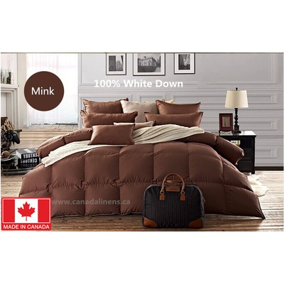 100% WHITE DOWN DUVET MADE IN CANADA MINK Color King size