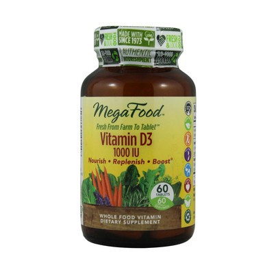 MegaFood Vitamin D3 1000 IU 60 Tablets