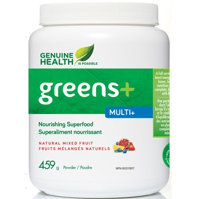 Genuine Health Greens+ Multi+ Natural Mixed Fruit