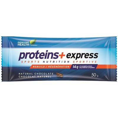 Genuine Health Proteins+ Express Bars - Natural Chocolate