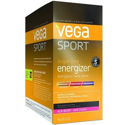 Vega Sport Sugar-Free Energizer - Acai Berry 30 x 3.2g Powder
