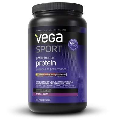 NEW Vega Sport Performance Protein - Berry Flavour 818 g