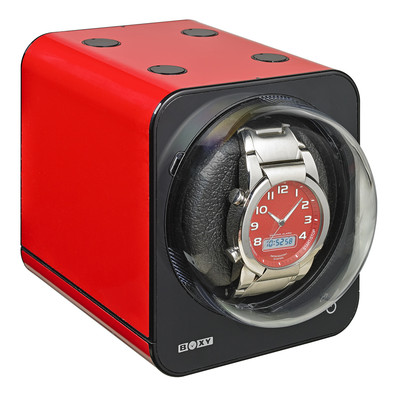 BOXY FANCY BRICK STACK ABLE WATCH WINDER - RED