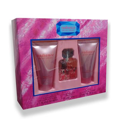 Set For Women  - Radiance 15ml Eau De Parfum  Spray + 50ml S/G + 50ml Body Souffle - by Britney Spears - 719346154888