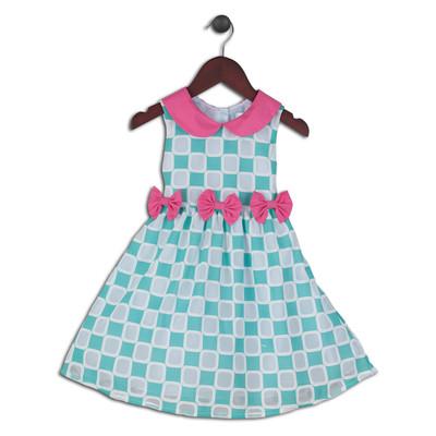 Cynthia Mod Retro Print Dress with Peter Pan Collar