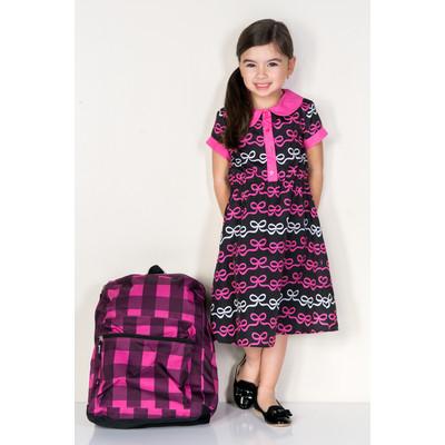 Kaitlin Bow Bow Print Shirt Dress