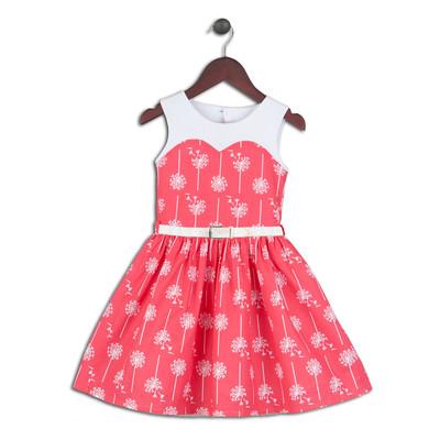 Lena Dandelions Blowing the Wind Cotton Print Dress