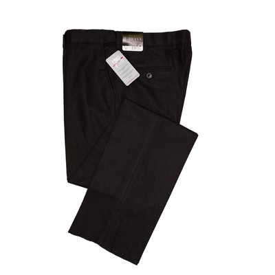 J. Braxx by Ballin, Black Wrinkle Free Linen Stretch Flat Front Pant