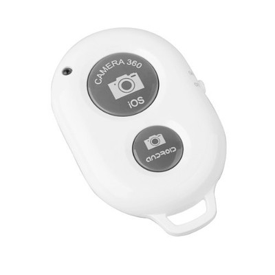Bluetooth Wireless Smartphone / Camera / Tablet Remote Shutter - White Color