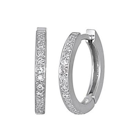 Lumax Design Diamond Hoop Earring.