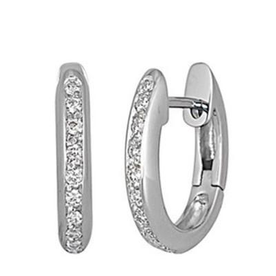 Lumax Design 18K Diamond Hoop.