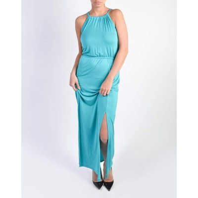 Guilty HALTER MAXI DRESS WITH SLITS