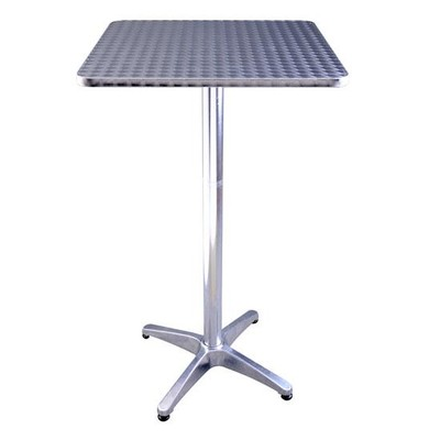 Stainless Steel Top Adjustable Square Bar Table