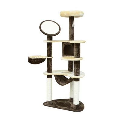 "60"" Multilevel Cat Tree Condo Tower House With Hammock"