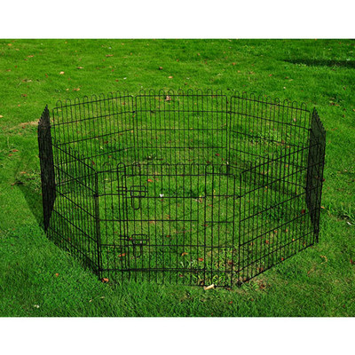 "30"" Metal Pet Dog Playpen Fence Crate"