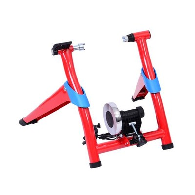 Indoor 8-Speed Folding Magnetic Bike Bicycle Trainer Red/Blue