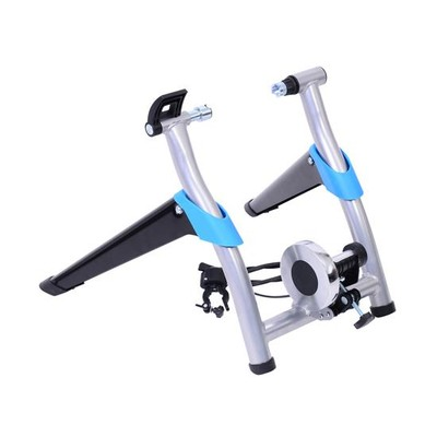 Indoor 8-Speed Folding Magnetic Bike Bicycle Trainer Black/Silver/Blue