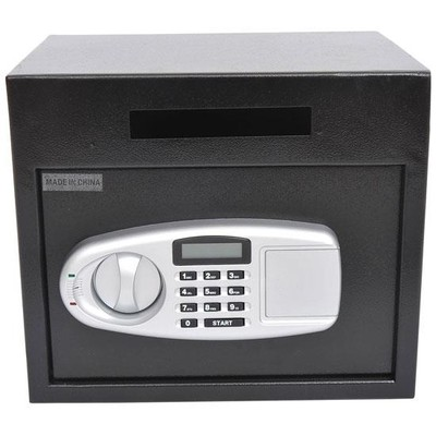 "12""x14""x10"" Home Electronic Digital Safe Box with Letter Drop Slot Black"