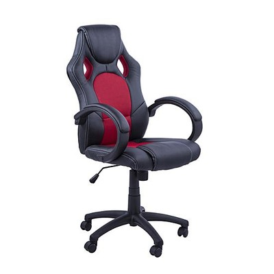 Race Car Styled Ergonomic Office Chair Computer Desk Seat Black Red