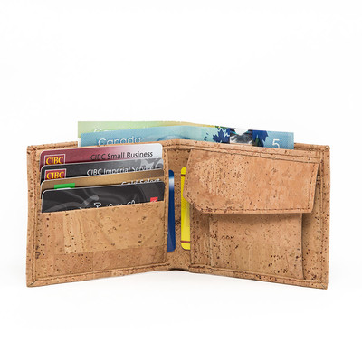 CORK WALLET COIN COMBO, VEGAN GIFT