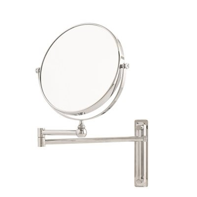 Danielle Adjustable Round Wall Mount Mirror - 10x Mag.