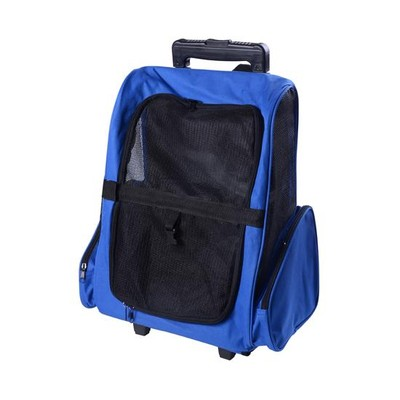 Rolling Backpack Per Carrier - Blue