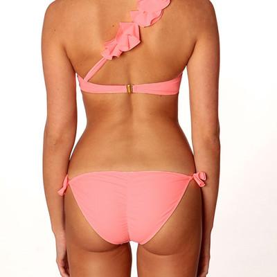 Sexy scrunch bikini bottom in pink, Paradise