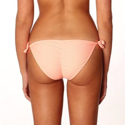 Sexy scrunch bikini bottom in coral, Paradise