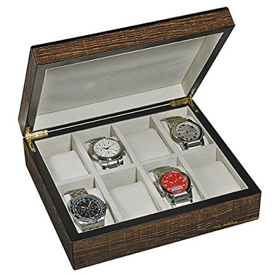 WOODEN WATCH COLLECTOR BOX (8 watches)