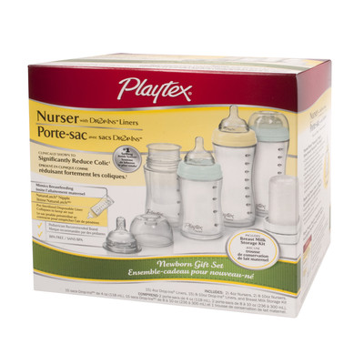 Playtex Nurser with Drop-ins Liners - New Born Gift Set