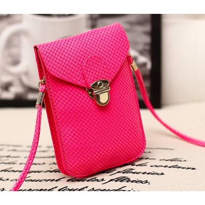 Designer Cross Body Wallet - Fuscia Color