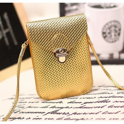 Designer Cross Body Wallet - Gold Color