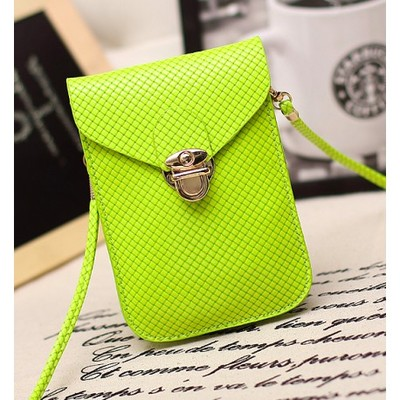 Designer Cross Body Wallet - Green Color