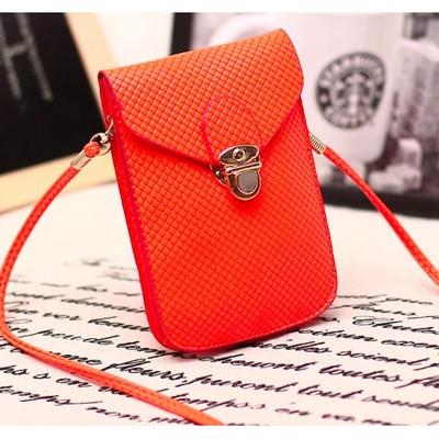 Designer Cross Body Wallet - Orange Color