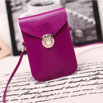 Designer Cross Body Wallet - Purple Color
