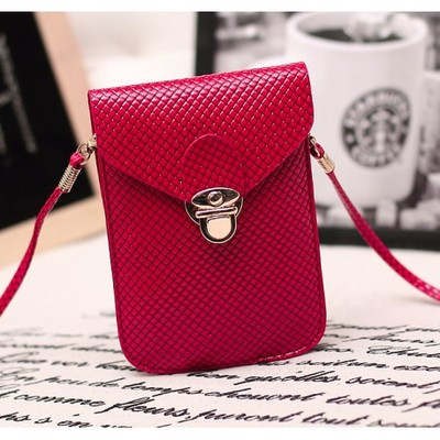 Designer Cross Body Wallet - Red Color