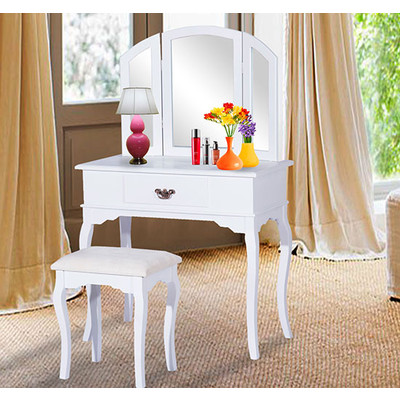 makeup vanity set canada. Classic Dressing Vanity Makeup Table With Stool Mirror White