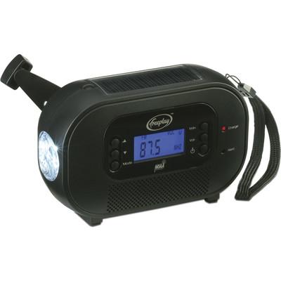 Freeplay Buddy Solar, Hand Crank, AM/FM/NOAA Radio, Flashlight, Cell Phone Charger  (4893114213826)