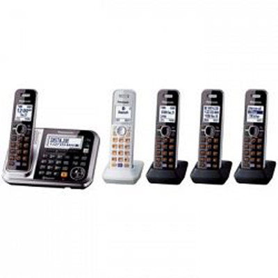 Panasonic-Refurbished KXTG395C Dect 6.0 4+1 Cordless Phones-Manufacturer Recertified with 90 days Warranty