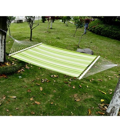 """75"""" 2-Person Fabric Bed Hammock w/ Pillow"""
