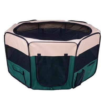"49.2"" Large Portable Dog Pet Playpen Green"