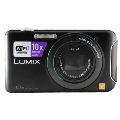 Panasonic-Refurbished Lumix DMC-SZ5 Black Digital Camera - Manufacturer Recertified with 90 days Warranty