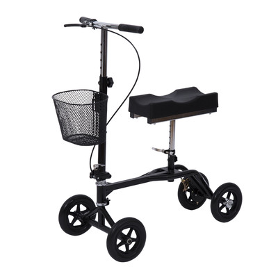 Adjustable Foldable Drive Medical Knee Walker Scooter Black