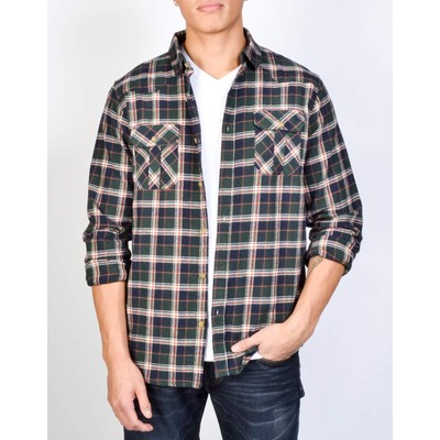 ISOLID     BRUSHED FLANNEL SHIRT