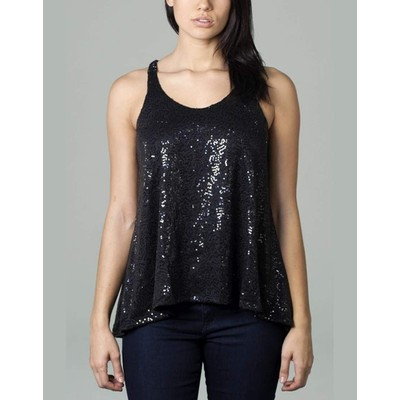 Foxy Jeans Sequin Tank Top