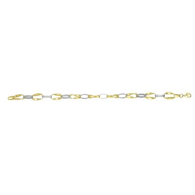 Two Tone Inversion Link Bracelet