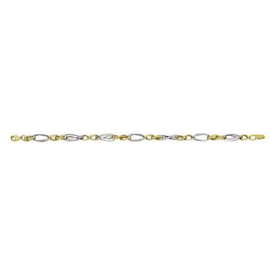 Two Tone Twisted Link Bracelet