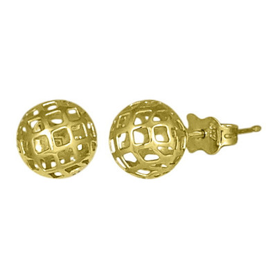 7mm Golden Sphere Mesh Stud